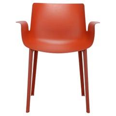Kartell Piuma Chair in Rusty Orange by Piero Lissoni