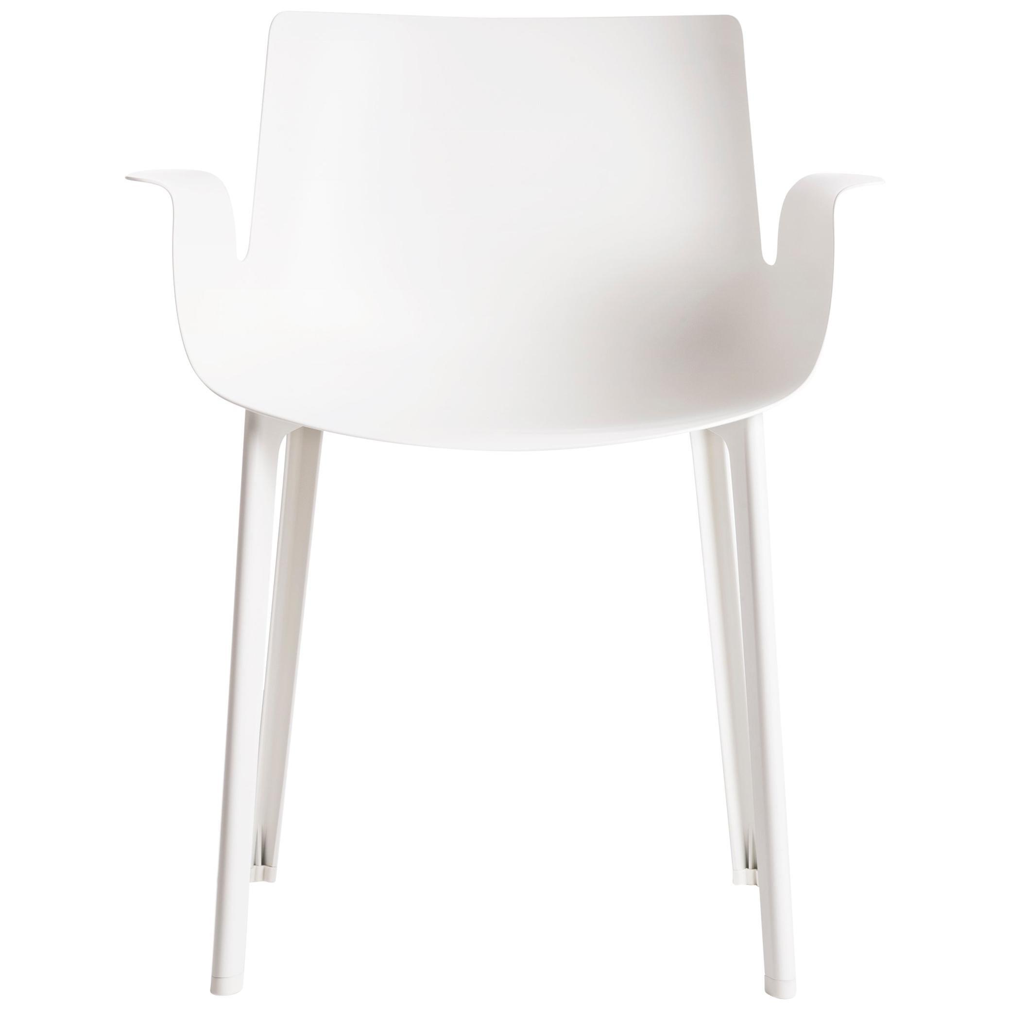 Kartell Piuma Chair in White by Piero Lissoni