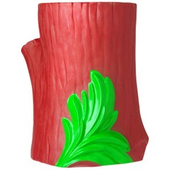 Kartell Saint-Esprit Tree Trunk Table-Stool in Red & Green by Philippe Starck