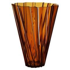Kartell Shanghai Vase in Amber by Mario Bellini