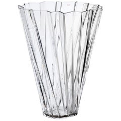 Kartell Shanghai Vase in Crystal by Mario Bellini