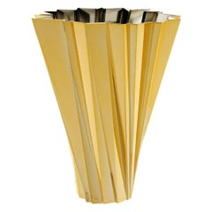 Kartell Shanghai Vase in Gold by Mario Bellini