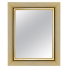 Kartell Small Rectangular Francois Ghost Mirror in Gold by Philippe Starck