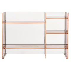 Kartell Sound Rack Modular Bookcase in Nude by Ludovica and Roberto Palomba