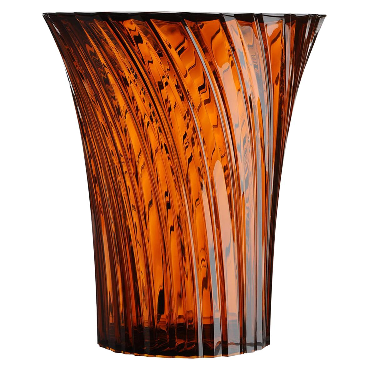 Kartell Sparkle Stool in Amber by Tokujin Yoshioka