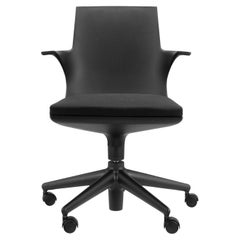 Kartell Spoon Chair in Black by Antonio Citterio & Toan Nguyen