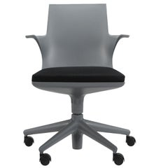 Kartell Spoon Chair in Grey & Black by Antonio Citterio & Toan Nguyen