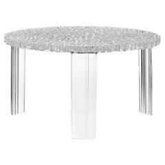 Kartell T-Table by Patricia Urquiola in Crystal