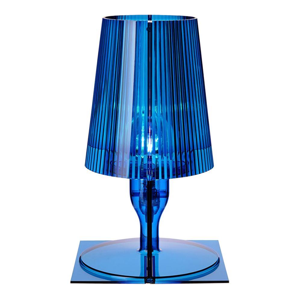 Kartell Take Lamp in Blue by Ferruccio Laviani