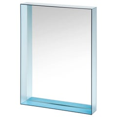 Kartell Tall Only Me Mirror in Light Blue by Philippe Starck