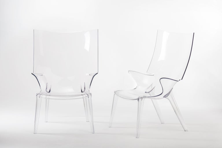 Modern Kartell Uncle Jim Armchair in Clear by Philippe Starck For Sale