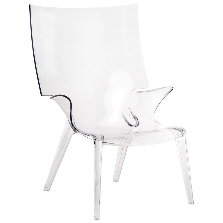Kartell Uncle Jim Armchair in Clear by Philippe Starck For Sale