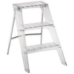Kartell Upper Step Ladder in Crystal by Alberto Meda, Paolo Rizzatto