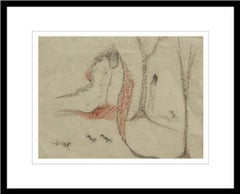 "Nude, Figurative, Pastel on paper, Brown, Red colors by Indian Artist ""In Stock"""