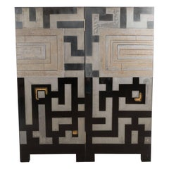 Japanese Mid Century Ornamental Wall Decoration with Abstract Geometric Patterns