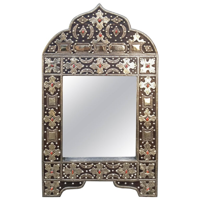 Kasbah Arched Moroccan Metal Inlaid Mirror Marrakech For
