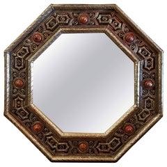 Kasbah Hexagonal Moroccan Metal Inlaid Mirror, Marrakech