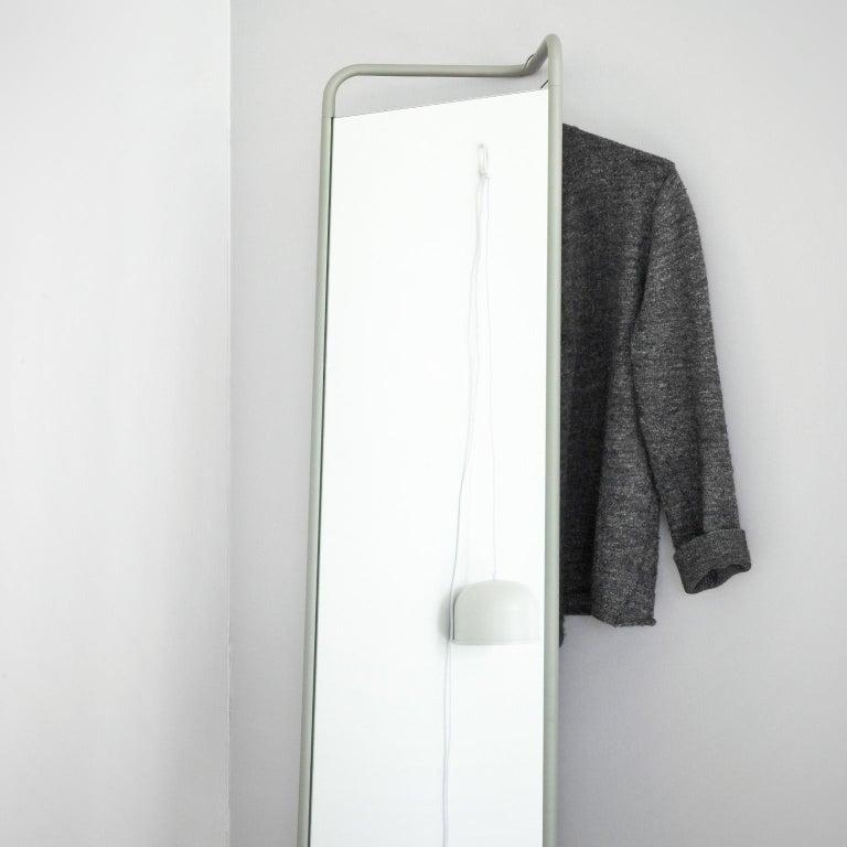 Chinese Kaschkasch Floor Mirror by Kaschkasch Cologne, Black Frame For Sale