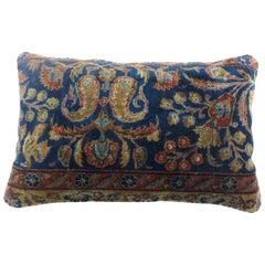 Kashan Persian Rug Lumbar Pillow