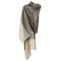 Kashmir Hand Woven Variegated Aqua Lavender and 100 % Natural Cashmere Shawl