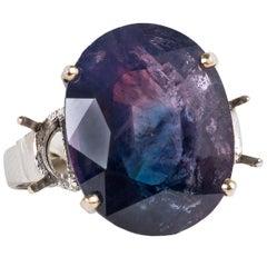 Kashmir Purple and Blue Sapphire Ring