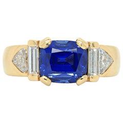 Kashmir Sapphire and Diamond Ring, Kern