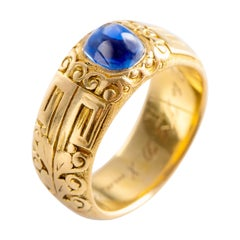 Kashmir Sapphire Ring by Tiffany & Co. Gilded Age Certified No-Heat
