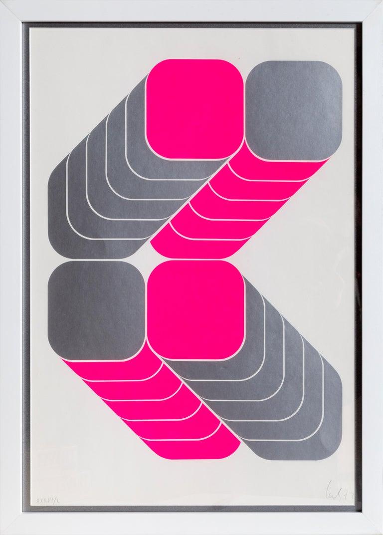 Kaspar Thomas Lenk Abstract Print - OP Pop Art Screenprint by Thomas Lenk 1972
