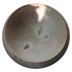 Kasper Würtz Large Shallow Art Bowl in Mellow Apricot Glaze