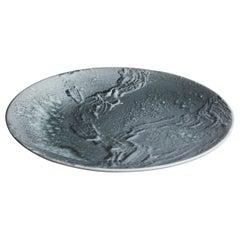 Kasper Würtz One Off Stoneware Art Plate Monochromatic Black Glaze