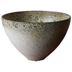 Kasper Würtz One Off Stoneware Bell-Krater Vessel Brown and White Glaze