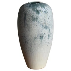 Kasper Würtz One Off Stoneware 'Rising Balloon' Vase #1 Blue and White Glaze