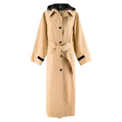 KASSL Editions hooded woven trench coat S
