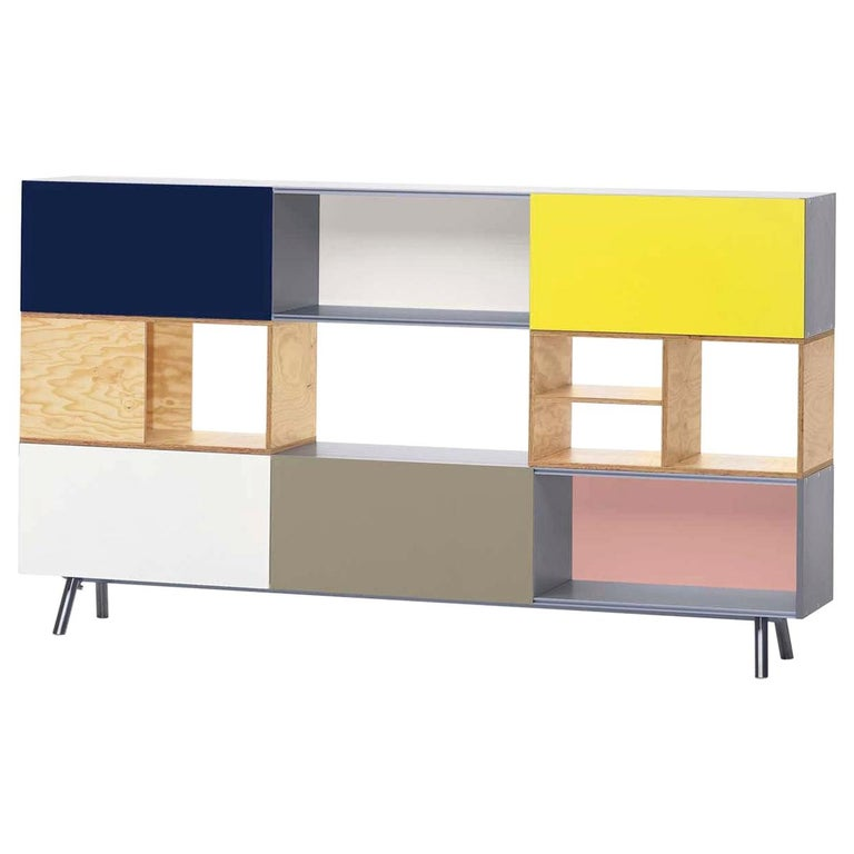 Kast 3 High Storage Unit, by Vitra For Sale