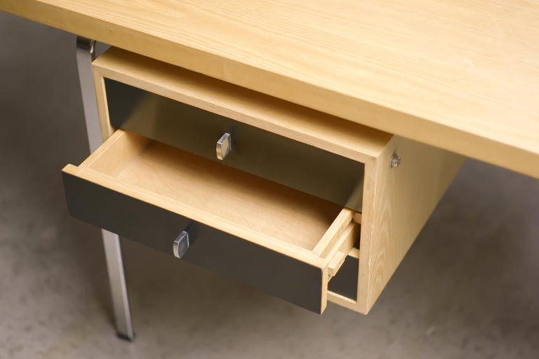 Chrome Kastholm and Fabricius Desk For Sale