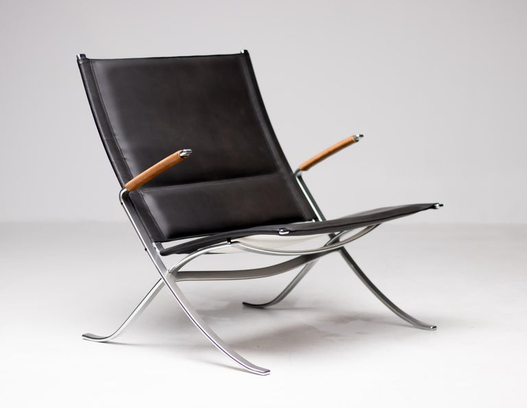 Scandinavian Modern Kastholm and Fabricius FK82 Lounge Chair For Sale