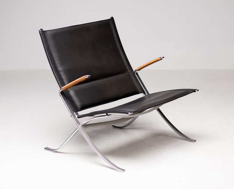 Steel Kastholm and Fabricius FK82 Lounge Chair For Sale