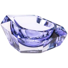 21st Century Karim Rashid Mini Bowl Murano Glass Purple Color