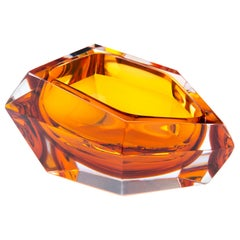 21st Century Karim Rashid Mini Bowl Murano Glass Amber Color