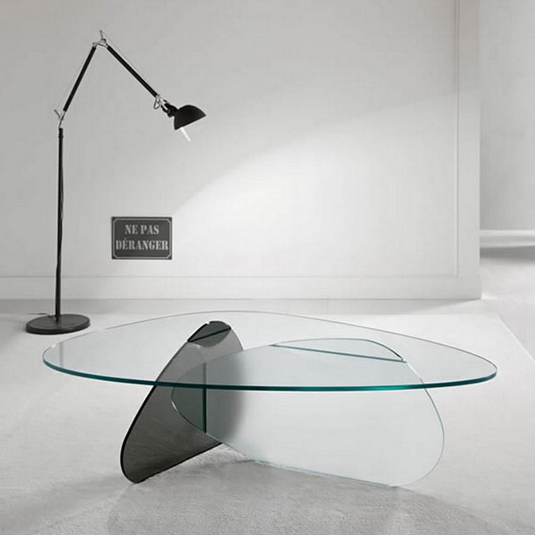 Italian In stock in Los Angeles, Kat Glass Table Designed by Karim Rashid, Made in Italy For Sale