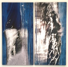 Silver Shimmer Diptych
