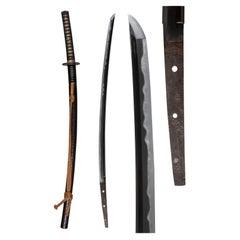 "Japanese Sword, Katana Named ""Yakumo"", NBTHK Jūyō Tōken, 14th Century"