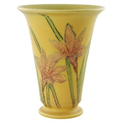 Kataro Shirayamadani Signed Rookwood Pottery Vase with Floral Motif