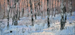 Winter Forest- XXI Century, Contemporary Figurative Oil Painting