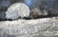Winter Landscape - XXI Century, Contemporary Figurative Oil Painting, Winter