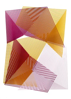 Cryptic Colouration # 5 by Kate Banazi - abstract geometric print