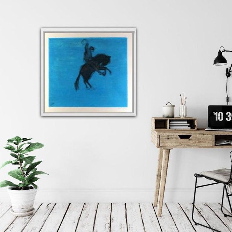 Bucking Bronco, KATE BOXER, LimitedEdition Drypoint Print, Animal Art, Horse Art For Sale 8