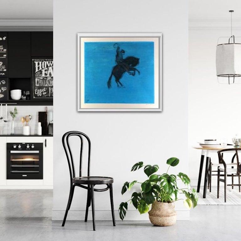 Bucking Bronco, KATE BOXER, LimitedEdition Drypoint Print, Animal Art, Horse Art For Sale 9