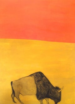 I feel like an African Prince (Orange and Yellow Ochre Bison), Kate Boxer