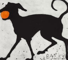 Kate Boxer, Backy, Limited Edition Dog Print, Drypoint, Contemporary Art